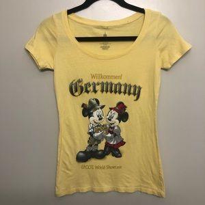 Disney Epcot Germany Mickey& Minnie shirt yellow